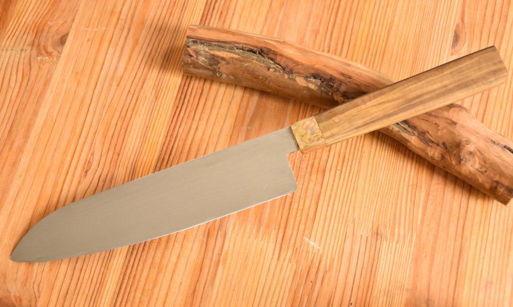 santoku couteau japon mokume gane cuisine japonaise Lyon