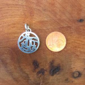 Tsuba katana japon argent pendentif